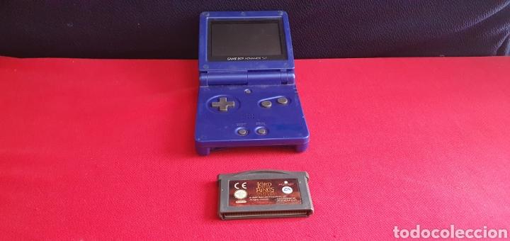 NINTENDO GAME BOY ADVANCE SP CON EL JUEGO LORD OF THE RINGE NO PROBADO (Juguetes - Videojuegos y Consolas - Nintendo - GameBoy Advance)