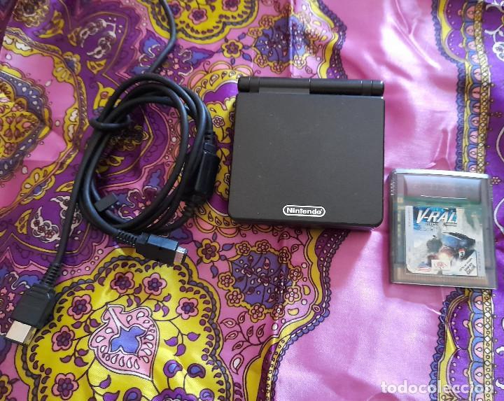 Videojuegos y Consolas: CONSOLA ADVANCE GAME BOY SP CON JUEGO V-RALLY CONSOLA NINTENDO COLOR NEGRO - Foto 2 - 263711135