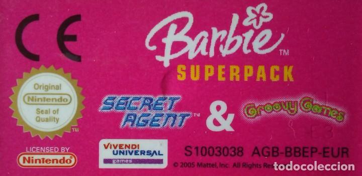 Videojuegos y Consolas: NINTENDO GAMEBOY BARBIE SUPERPACK SECRET AGENT & GROOVY GAMES AÑO 2005 - Foto 3 - 267065214