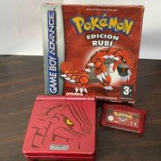 Videojuegos y Consolas: GAME BOY ADVANCE SP EDICIÓN ESPECIAL GROUDON + POKEMON RUBÍ PAL ESPAÑA. Lote 267467134