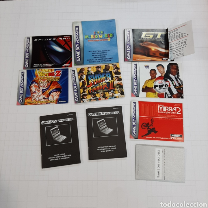 INSTRUCCIONES DE VARIOS JUEGOS Y MANUAL GAME BOY ADVANCE (Juguetes - Videojuegos y Consolas - Nintendo - GameBoy Advance)