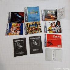 Videojuegos y Consolas: INSTRUCCIONES DE VARIOS JUEGOS Y MANUAL GAME BOY ADVANCE. Lote 268586774