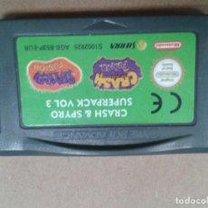 Videojuegos y Consolas: CRASH & SPYRO VOLUMEN 3. GAME BOY ADVANCE. Lote 268762509
