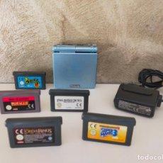 Videojuegos y Consolas: LOTE GAME BOY ADVANCE SP ARTIC BLUE CON JUEGOS. Lote 268850844
