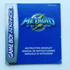 Videojuegos y Consolas: MANUAL METROID FUSION NINTENDO GAMEBOY ADVANCE. Lote 268944224
