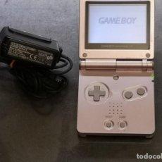 Videojuegos y Consolas: NINTENDO GAME BOY ADVANCE SP ROSA + CARGADOR. Lote 269068438