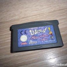 Videojuegos y Consolas: NINTENDO GAMEBOY ADVANCE JUEGO TITEUF. Lote 269349658