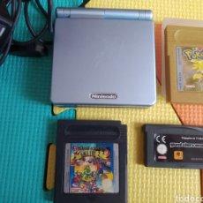 Videojuegos y Consolas: CONSOLA GAME BOY ADVANCE SP+ 3 JUEGOS+ CARGADOR. Lote 270529778