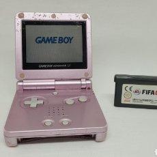 Videojuegos y Consolas: LOTE GAME BOY ADVANCE SP CON JUEGO FIFA 2007. FUNCIONA. NINTENDO. GAMEBOY.. Lote 270612648