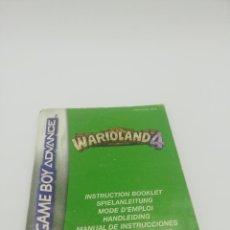 Videojuegos y Consolas: WARIOLAND 4 GBA MANUAL. Lote 277455238