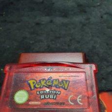 Videojuegos y Consolas: GAMEBOY ADVANCE POKEMON EDICION RUBI. Lote 277722813