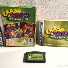 Videogiochi e Consoli: CRASH & SPYRO SUPER PACK VOL. 3 NINTENDO GAME BOY ADVANCE. Lote 280687928