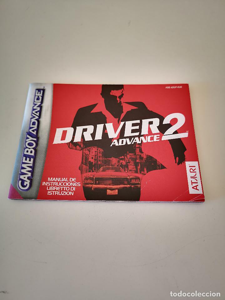 DRIVER 2 GAME BOY ADVANCE MANUAL DE INSTRUCCIONES NINTENDO JUEGO CONSOLA CARTUCHO (Juguetes - Videojuegos y Consolas - Nintendo - GameBoy Advance)