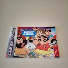 Videojuegos y Consolas: SHIN CHAN GAME BOY ADVANCE MANUAL DE INSTRUCCIONES AVENTURAS EN CINELAND NINTENDO JUEGO CONSOLA. Lote 286873628
