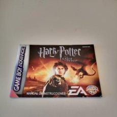 Videojuegos y Consolas: HARRY POTTER Y EL CALIZ DE FUEGO GAME BOY ADVANCE MANUAL DE INSTRUCCIONES NINTENDO JUEGO CONSOLA. Lote 286873843
