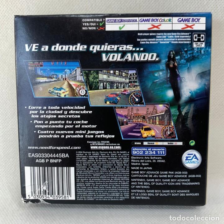 Videojuegos y Consolas: VIDEOJUEGO NINTENDO GAME BOY ADVANCE - NEED FOR SPEED UNDERGROUND 2 + CAJA - Foto 4 - 287230238