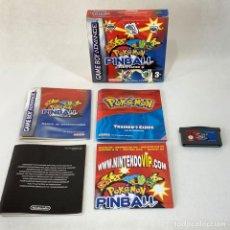 Videojuegos y Consolas: VIDEOJUEGO NINTENDO GAME BOY ADVANCE - POKÉMON PINBALL RUBI Y ZAFIRO - COMPLETO. Lote 287230998