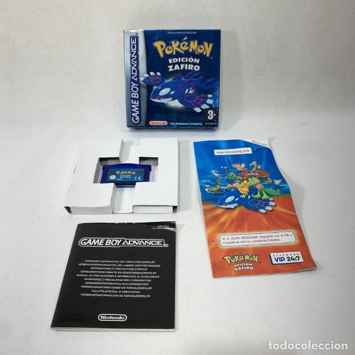 VIDEOJUEGO NINTENDO GAME BOY ADVANCE - POKÉMON EDICIÓN ZAFIRO + CAJA + CORCHO + LIBRETO (Juguetes - Videojuegos y Consolas - Nintendo - GameBoy Advance)