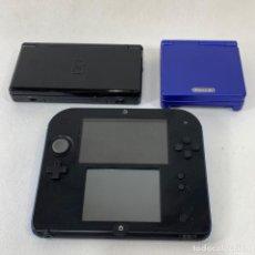 Videojuegos y Consolas: LOTE 3 CONSOLAS - NINTENDO DS - NINTENDO 2DS - GAME BOY ADVANCE. Lote 287601103