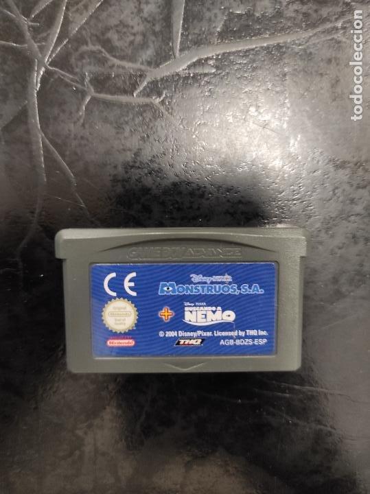 NINTENDO GAME BOY ADVANCE - MONSTRUOS SA + BUSCANDO A NEMO (Juguetes - Videojuegos y Consolas - Nintendo - GameBoy Advance)