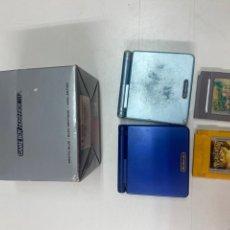 Videojuegos y Consolas: LOTE DE DOS GAMEBOY ADVANCESP CON DOS JUEGOS Y CAJA ORIGINAL. Lote 289849298
