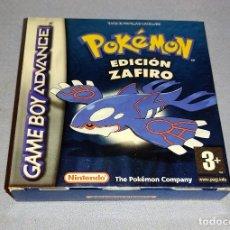 Videojuegos y Consolas: JUEGO POKEMON EDICION ZAFIRO NINTENDO GAME BOY ADVANCE TODO ORIGINAL. Lote 292611878