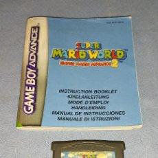 Videojuegos y Consolas: JUEGO SUPER MARIO WORLD 2 NINTENDO GAME BOY ADVANCE TODO ORIGINAL. Lote 293462663