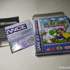 Videojuegos y Consolas: SUPER MARIO WORLD + ADVANCE 2 ( SIN EL JUEGO ) ( GAMEBOY ADVANCE - ESP). Lote 293811313