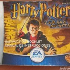 Videojuegos y Consolas: MANUAL INSTRUCCIONES HARRY POTTER GAME BOY ADVANCE. Lote 294929453