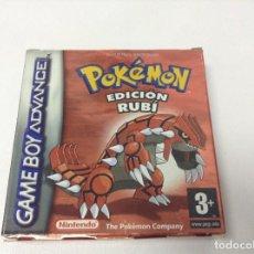 Videojuegos y Consolas: POKEMON EDICION RUBI ---- ORIGINAL Y COMPLETO , PILA BOTON CAMBIADA. Lote 295367243
