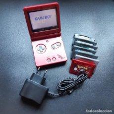 Videojuegos y Consolas: NINTENDO GAME BOY ADVANCE SP POKÉMON EDICIÓN RUBÍ // GAMEBOY. Lote 297015583