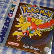 Videojuegos y Consolas: POKEMON GOLD VERSION PARA NINTENDO GAMEBOY COLOR COMPLETO - GAME BOY UK ENGLISH VERSION. Lote 26532870
