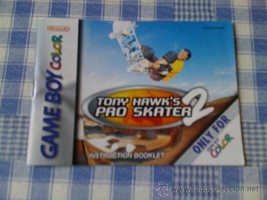 INSTRUCCIONES DE TONY HAWK´S PRO SKATER 2 PARA NINTENDO GAMEBOY COLOR - GAMEBOY GB GBC SALCEDUS (Juguetes - Videojuegos y Consolas - Nintendo - GameBoy Color)