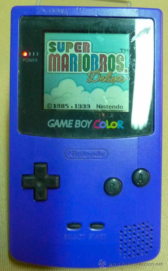 GAMEBOY COLOR, GAME BOY, CONSOLA, COLOR AZUL, FUNCIONA, (Juguetes - Videojuegos y Consolas - Nintendo - GameBoy Color)