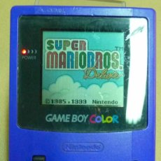 Videojuegos y Consolas: GAMEBOY COLOR, GAME BOY, CONSOLA, COLOR AZUL, FUNCIONA,. Lote 27496891