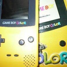 Videojuegos y Consolas: GAMEBOY COLOR NINTENDO AMARILLA CON CAJA. Lote 78123733