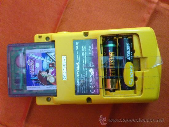 Videojuegos y Consolas: MAQUINITA NINTENDO GAME BOY COLOR. AMARILLA. FUNCIONA. - Foto 4 - 34708453