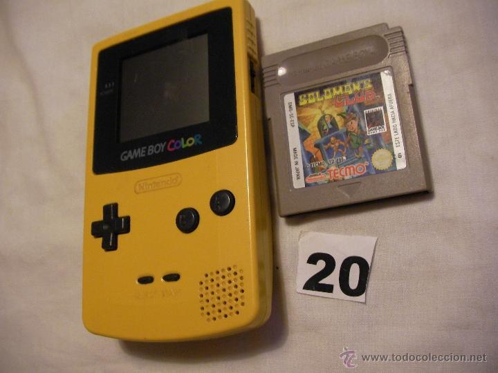 CONSOLA NINTENDO GAMEBOY COLOR CON JUEGO (Juguetes - Videojuegos y Consolas - Nintendo - GameBoy Color)