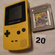 Videojuegos y Consolas: CONSOLA NINTENDO GAMEBOY COLOR CON JUEGO. Lote 39973287