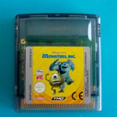 Videojuegos y Consolas: MONSTER INC DISNEY PIXAR GAME BOY COLOR NINTENDO ORIGINAL. Lote 44217232