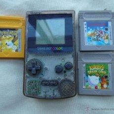 Videojuegos y Consolas: GAME BOY COLOR CON TRES JUEGOS. Lote 48544090