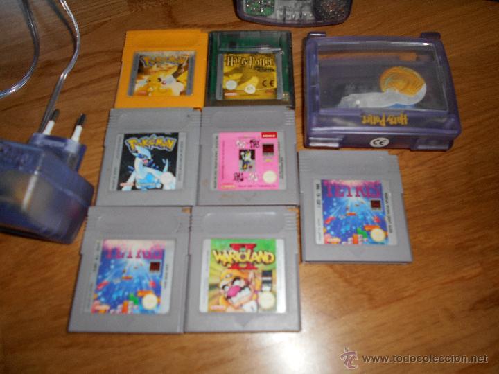 Videojuegos y Consolas: Consola Game Boy Color transparente + 7 cartuchos + HARRY POTTER ACCESORIO Mario Land etc - Foto 2 - 49516567
