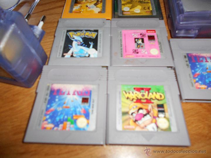Videojuegos y Consolas: Consola Game Boy Color transparente + 7 cartuchos + HARRY POTTER ACCESORIO Mario Land etc - Foto 3 - 49516567