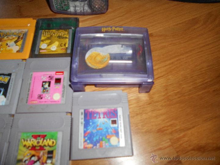 Videojuegos y Consolas: Consola Game Boy Color transparente + 7 cartuchos + HARRY POTTER ACCESORIO Mario Land etc - Foto 4 - 49516567