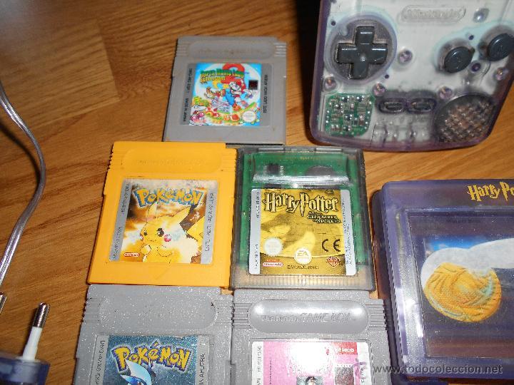 Videojuegos y Consolas: Consola Game Boy Color transparente + 7 cartuchos + HARRY POTTER ACCESORIO Mario Land etc - Foto 6 - 49516567