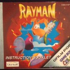 Videojuegos y Consolas: MANUAL DE INSTRUCCIONES ORIGINAL GAME BOY COLOR RAYMAN GAMEBOY. Lote 49699759
