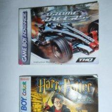 Videojuegos y Consolas: 2 MANUALES DE JUEGOS PARA GAME BOY DROME RACERS Y HARRY POTTER Y LA CÁMARA SECRETA.. Lote 51173148