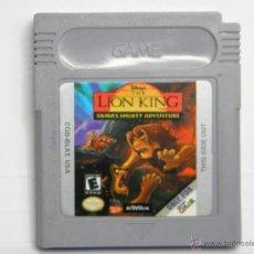 Videojuegos y Consolas: THE LION KING - EL REY LEON - GAMEBOY GAME BOY COLOR. Lote 54935128