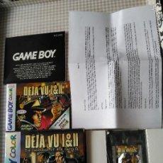Videojuegos y Consolas: DEJA VU I & II GAME BOY COLOR ESPAÑOLIZADO ESPAÑOL E INGLES NUEVO A ESTRENAR NINTENDO. Lote 59659243