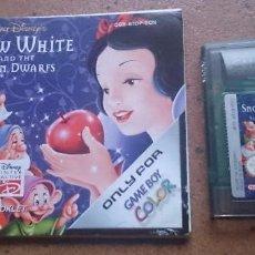 Videojuegos y Consolas: JUEGO GAME BOY GAMEBOY COLOR CON INSTRUCCIONES SNOW WHITE BLANCANIEVES . Lote 62540468
